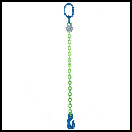Chain Sling 5//8 x 10 Single Leg with Grab and Sling Hook Grade 100